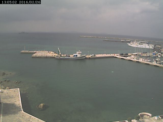 Naxos webcam | Port view